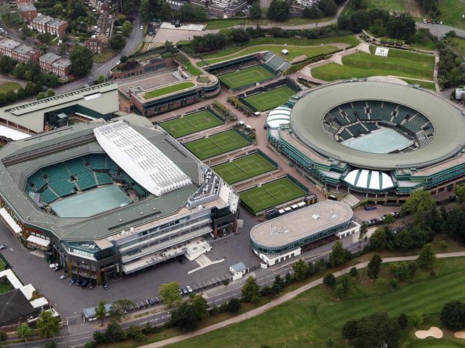 Корты всеанглийского клуба лаун-тенниса и крокета. Готовы к принятию олимпийского турнира