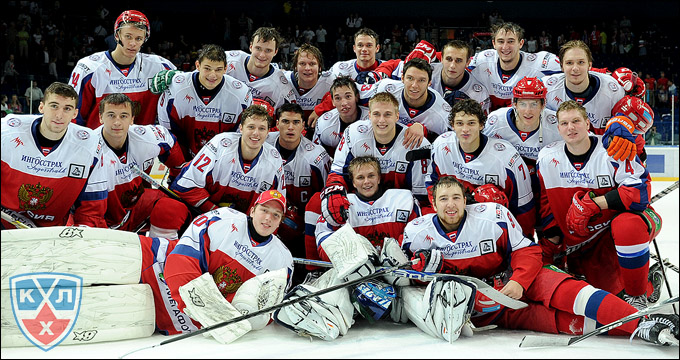Сборная России (U20) в Суперсерии со сборной Канады
