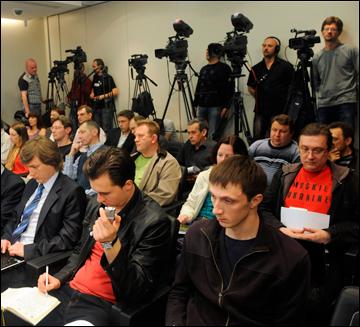 """Представление тренера ХК """"Донбасс"""" вызвало большой ажиотаж среди представителей СМИ"""