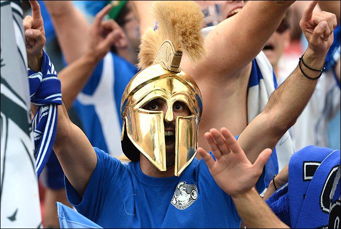 Болельщики сборной Греции