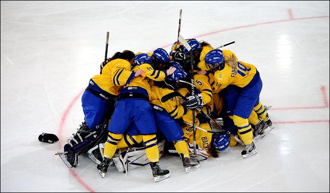 Женская хоккейная сборная Швеции — основной конкурент России в групповом турнире