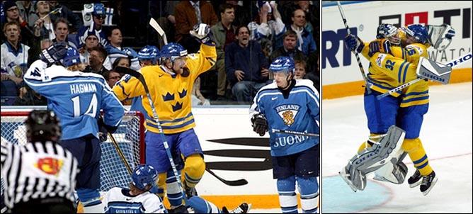 Топ-100 историй ИИХФ. История № 61. 2003. Швеция - Финляндия. Фото 02.