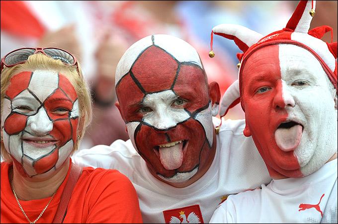 Болельщики сборной Польши