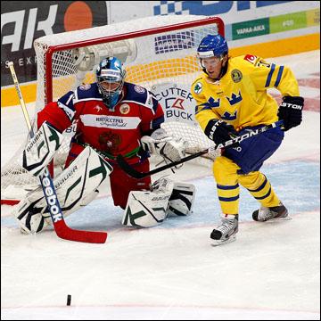 Никлас Даниэльссон против сборной России на Кубке Карьяла