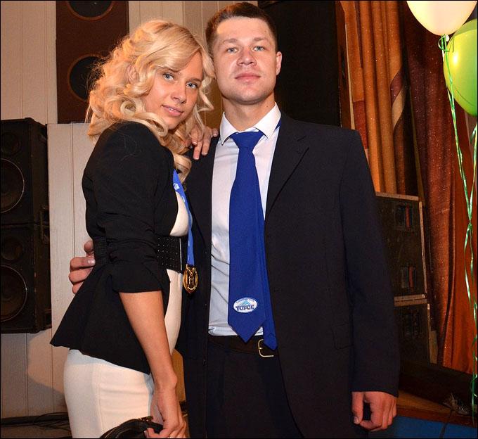 Сергей Сальников со своей половинкой