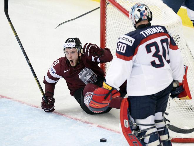 Чемпионат мира по хоккею 2014 года. Латвия — США — 6:5