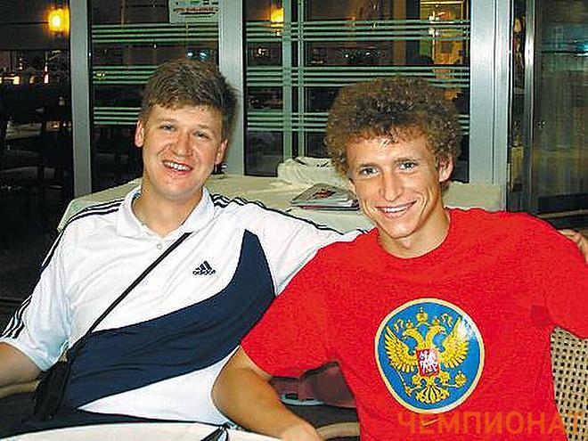 Павел Мамаев (справа) с тренером Владимиром Волчеком