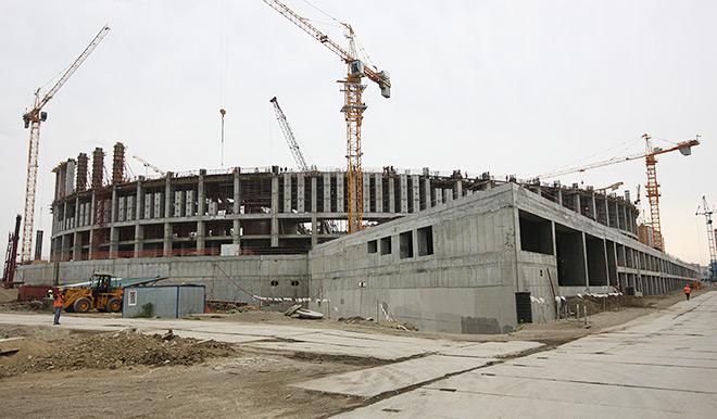 Стройка краснодарской арены