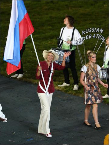 Церемония открытия Олимпиады. Мария Шарапова во главе российской делегации