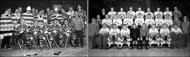 Терри О'Мэлли в составе олимпийских сборных Канады 1964 (слева) и 1968 годов.