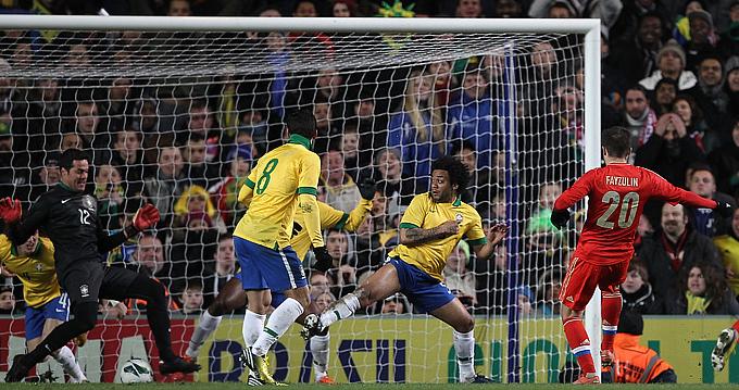 Россия — Бразилия — 1:1. Виктор Файзулин открывает счёт