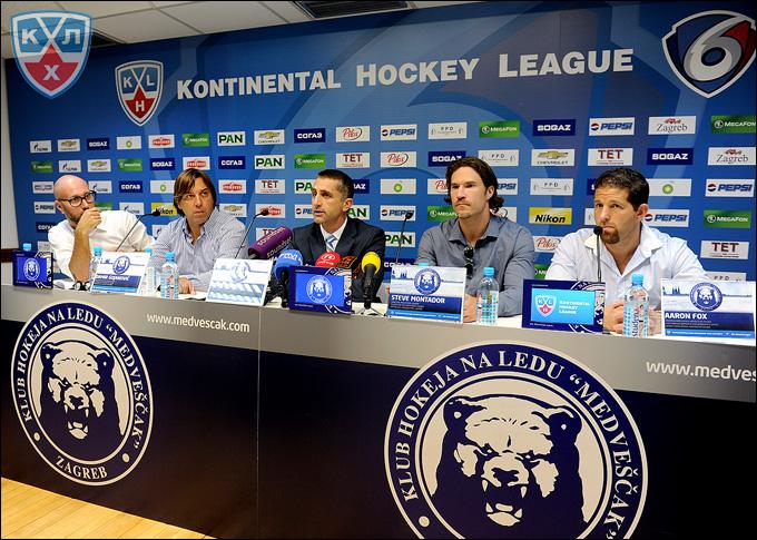 """Пресс-конференция ХК """"Медвешчак"""" перед началом первого сезона в КХЛ"""