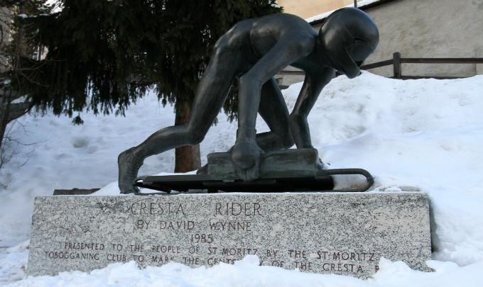 Памятник скелетонисту
