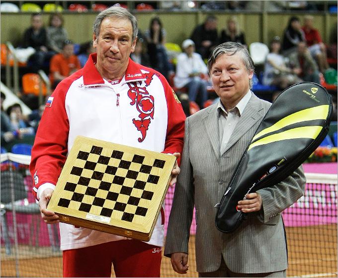 Шамиль Тарпищев и 12-й чемпион мира по шахматам Анатолий Карпов