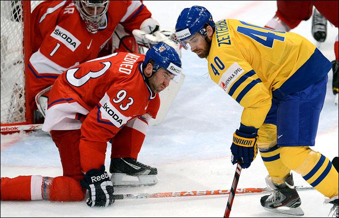 17 мая 2012 года. Стокгольм. Чемпионат мира. 1/4 финала. Швеция — Чехия — 3:4