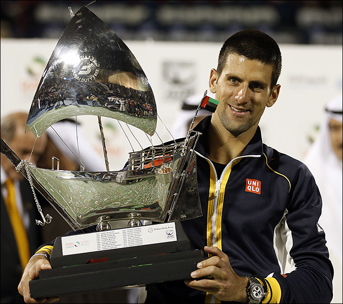 Новак Джокович в четвёртый раз выиграл в ОАЭ.