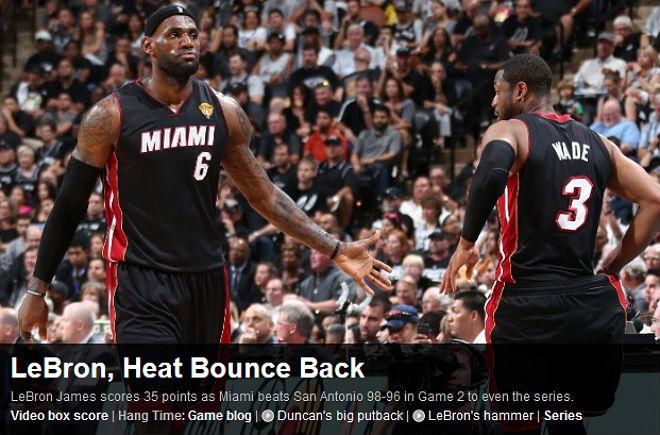 NBA: «Леброн и «Майами» пришли в себя»