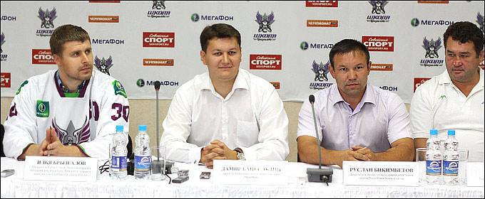 Пресс-конференция, посвященная открытию школы вратарей Ильи Брызгалова