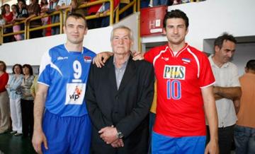 Милош Грбич со своими великими сыновьями: Владимиром и Николой