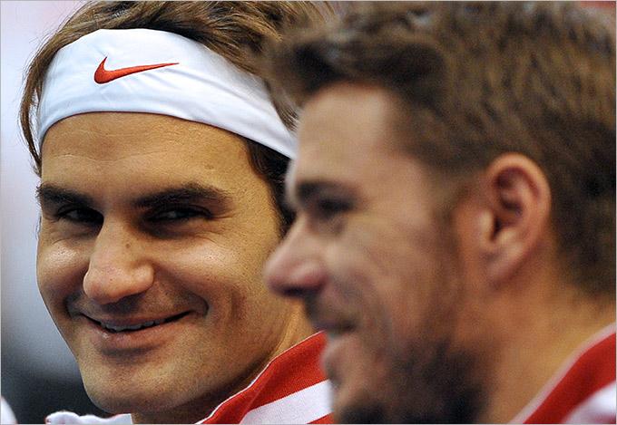 Вавринка и Федерер помогли обыграть Сербию
