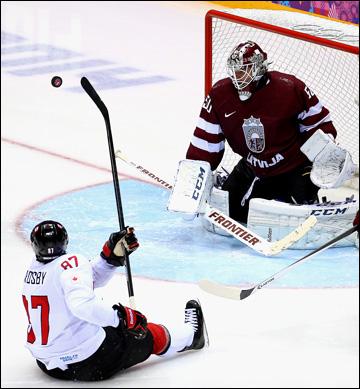 Канада побеждает со спящим Кросби