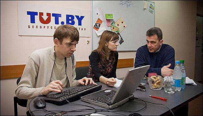 Курт Фрейзер и белорусские журналисты