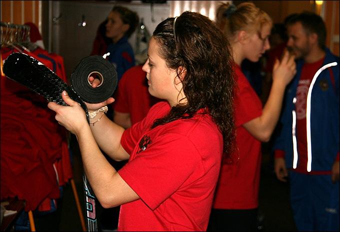 Александра Вафина на тренировочном сборе