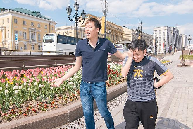 Mushi в Москве во время турнире EPICENTER