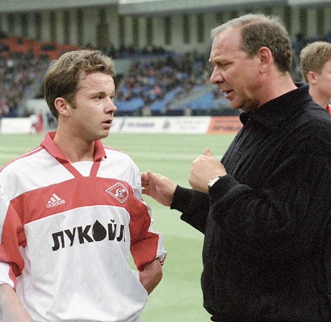 Дмитрий Парфёнов и Олег Романцев