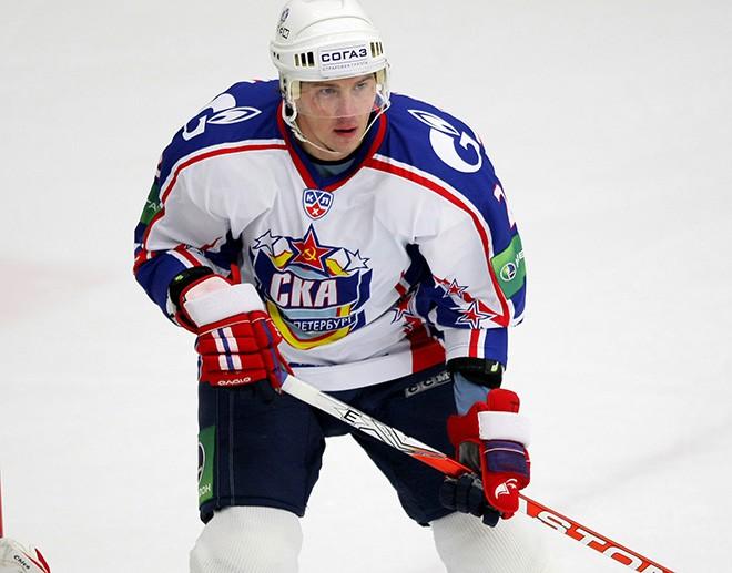 Гусев в форме петербургского СКА в сезоне-2009/10