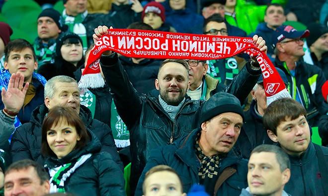 Болельщик «Спартака» в Краснодаре