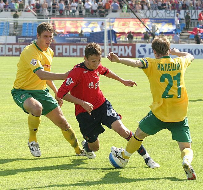 Никита Бурмистров в матче ЦСКА с «Кубанью»