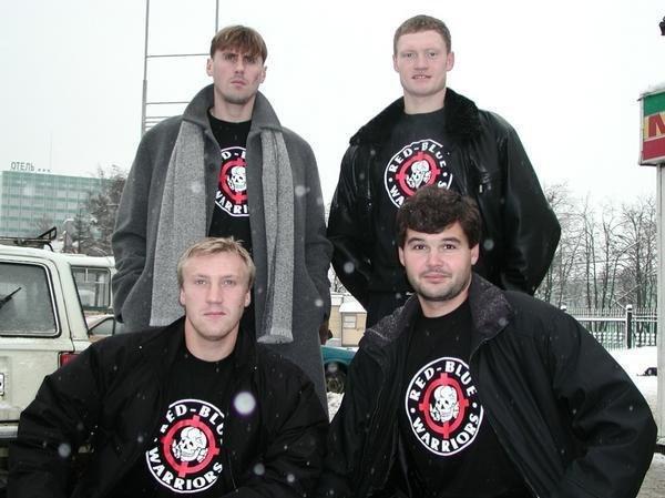 Вверху (слева направо): Валерий Минько и Евгений Варламов. Внизу (слева направо): Максим Боков и Андрей Новосадов