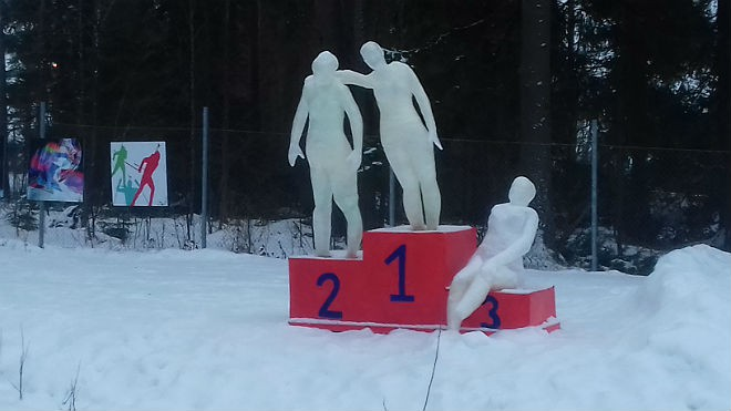 Биатлон. Репортаж с первой российской победы в сезоне