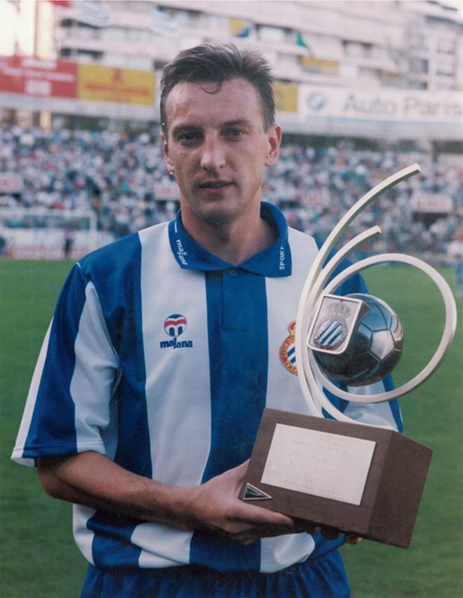 Дмитрий Кузнецов в составе «Эспаньола». 1993 год