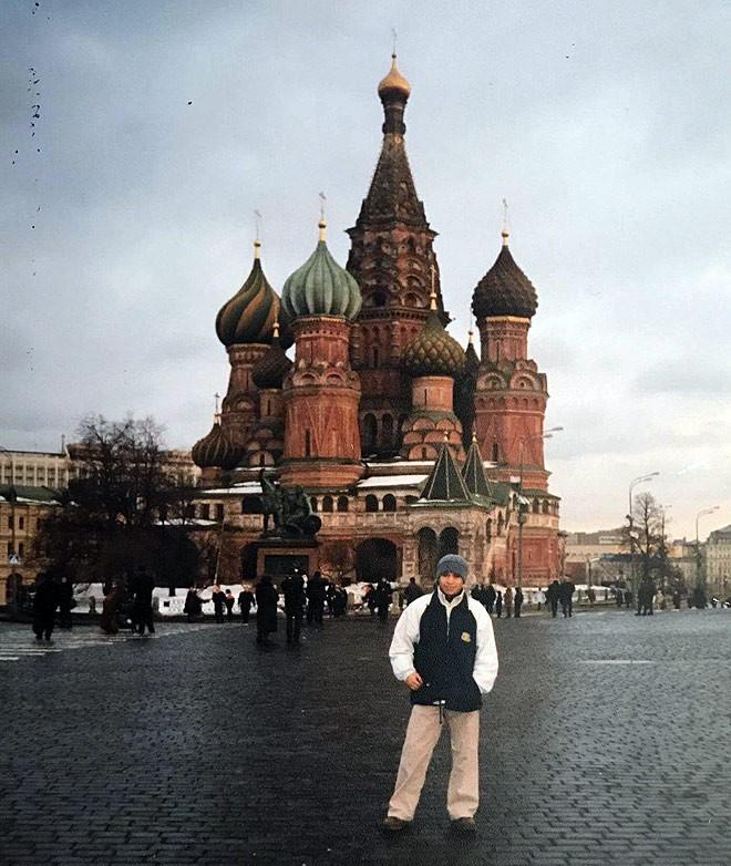 Юрий Солано на Красной площади