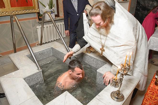 Православное крещение Люка (Луки) Уилкшира