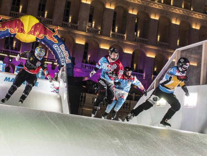 Денис Новожилов на первом этапе Red Bull Crashed Ice