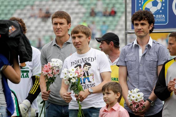 Василий Сачко (слева) в Полтаве провёл лучшие годы карьеры