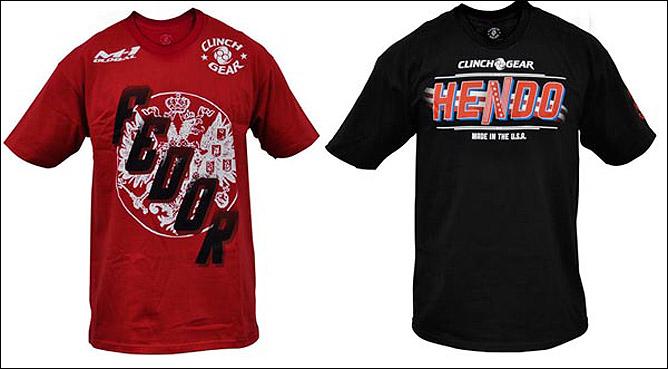 Фёдор и Хендо выйдут на поединок в майках фирмы Clinch Gear. Ожидается, что Фёдор будет одет в красную футболку, а Хендерсон — в чёрную.