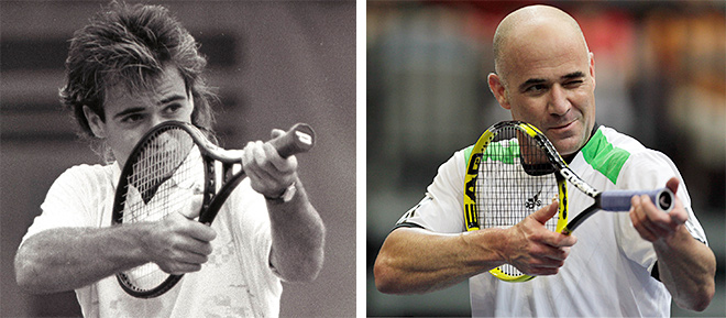 Андре Агасси: в начале карьеры и в конце