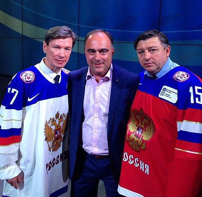 Герман Скоропупов с Вячеславом Быковым и Андреем Хомутовым