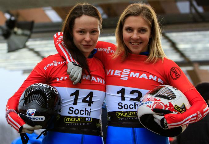 Краса и гордость российского скетелона Ольга Потылицина и Елена Никитина
