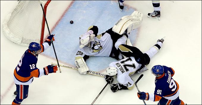 """7 мая 2013 года. Нью-Йорк. Плей-офф НХЛ. 1/8 финала. Матч № 4. """"Айлендерс"""" — """"Питтсбург"""" — 6:4. Флери Малкина до сборной доведёт!"""