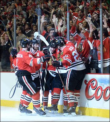 "23 июня 2013 года. Чикаго. Плей-офф НХЛ. Финал. Матч № 5. ""Чикаго"" — ""Бостон"" — 3:1"