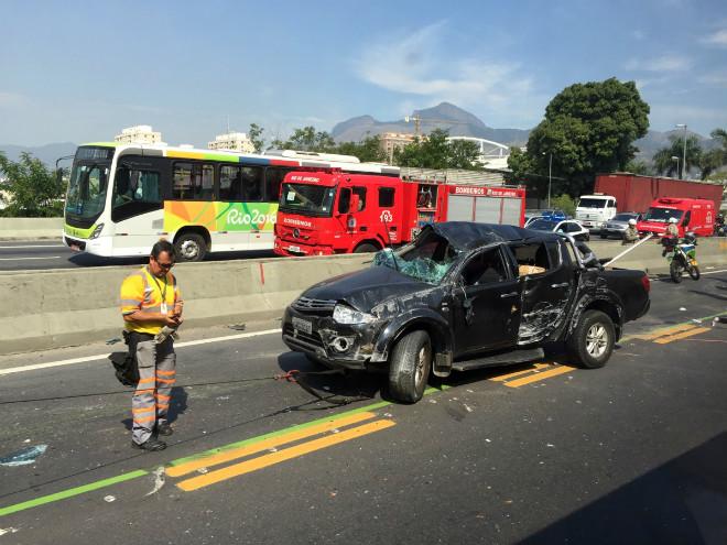 Авария на шоссе у Энжиньяу