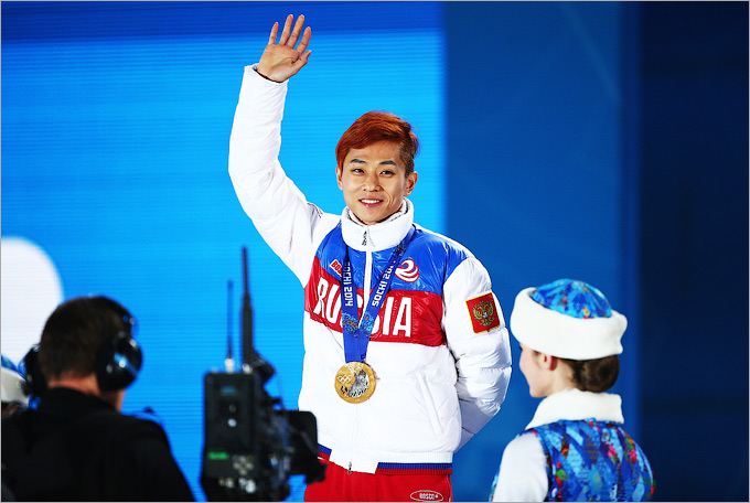 Виктор Ан — победа на дистанции 500 метров