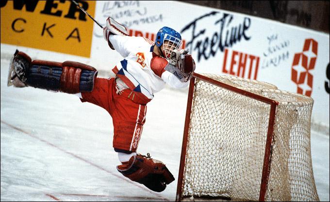 Петр Бржиза в воротах сборной Чехословакии, 80-е годы