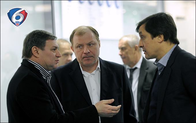 Олег Гросс, Алексей Жамнов и Валерий Каменский