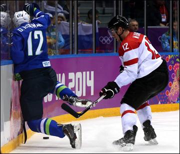 18 февраля 2014 года. Сочи. XXII зимние Олимпийские игры. Хоккей. Квалификация. Словения — Австрия — 4:0